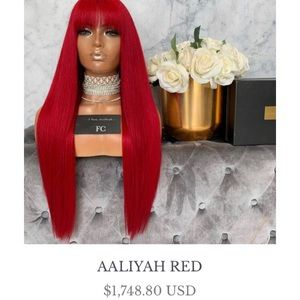Authentic Freedom Couture Aaliyah Red Wig